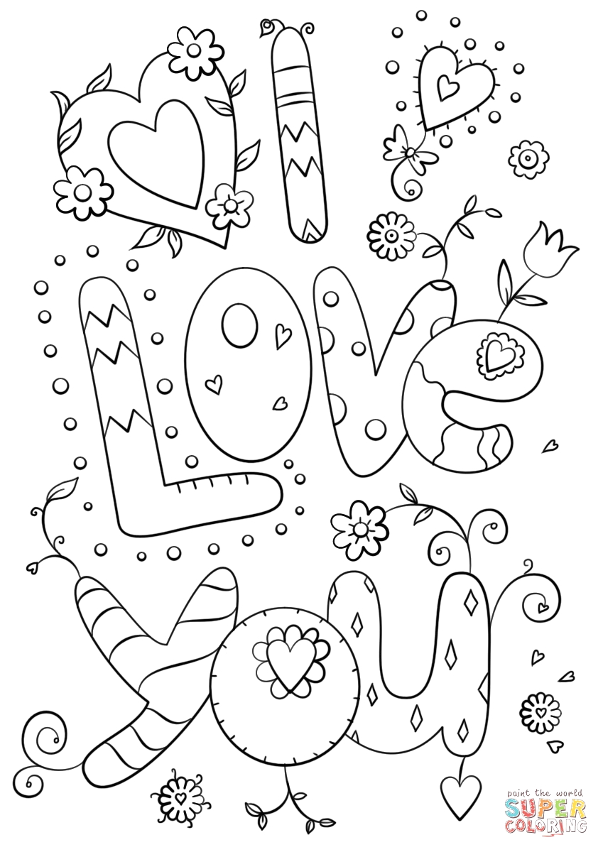Free Printable I Love You Coloring Pages for Adults I Love You Coloring Pages for Adults at Getcolorings