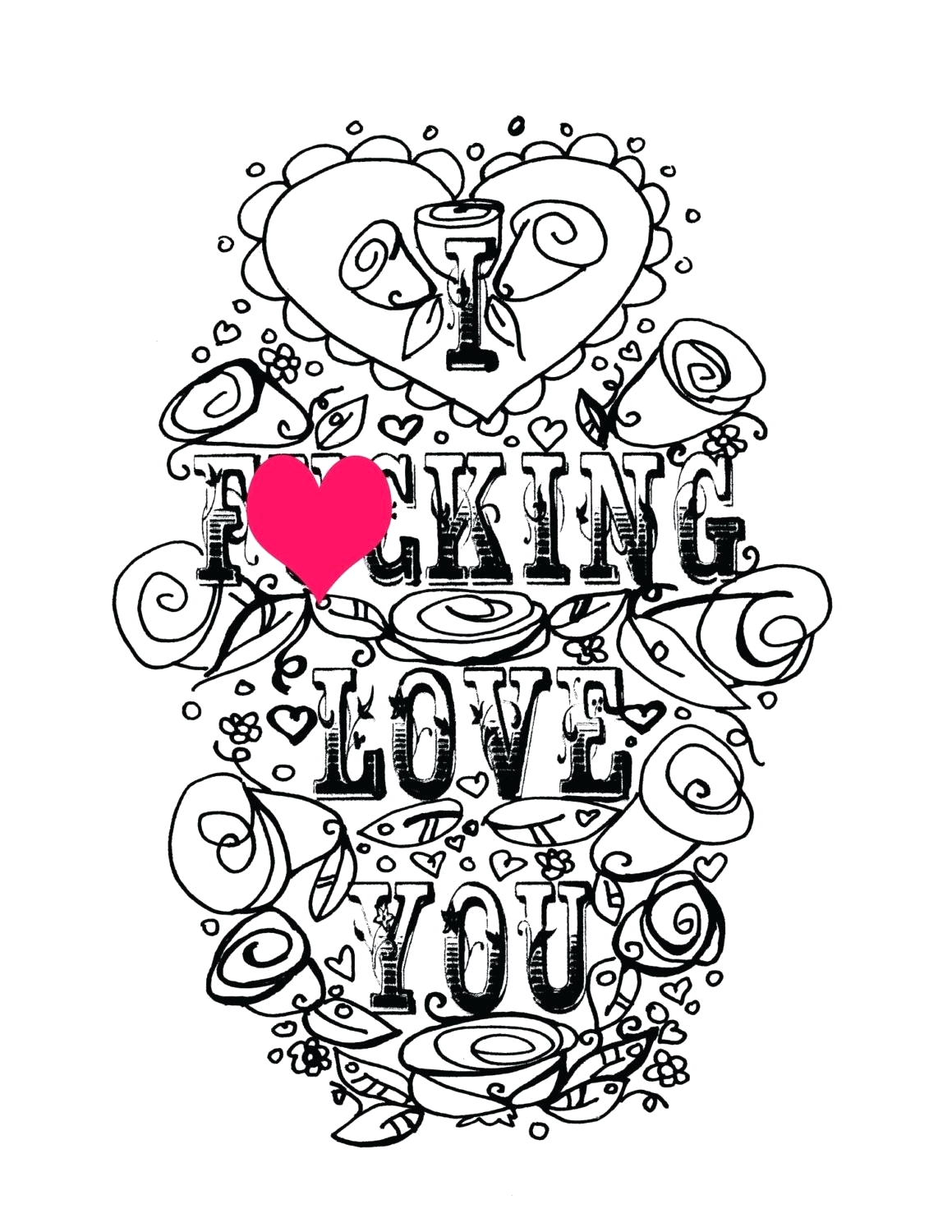 we love you coloring pages