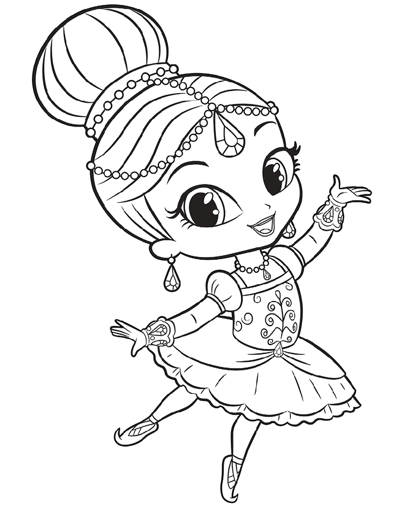 shimmer and shine coloring pages for girls