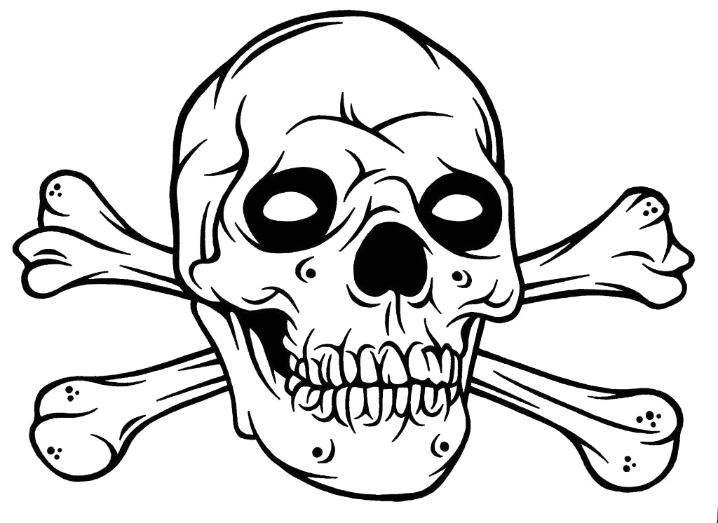 Free Printable Skull and Crossbones Coloring Pages Halloween Skull Coloring Pages at Getcolorings