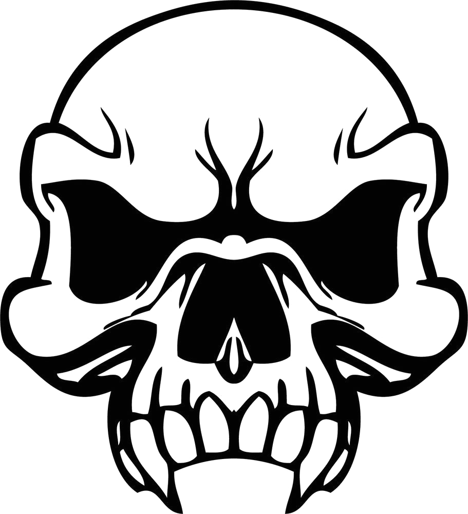 skull and crossbone coloring page