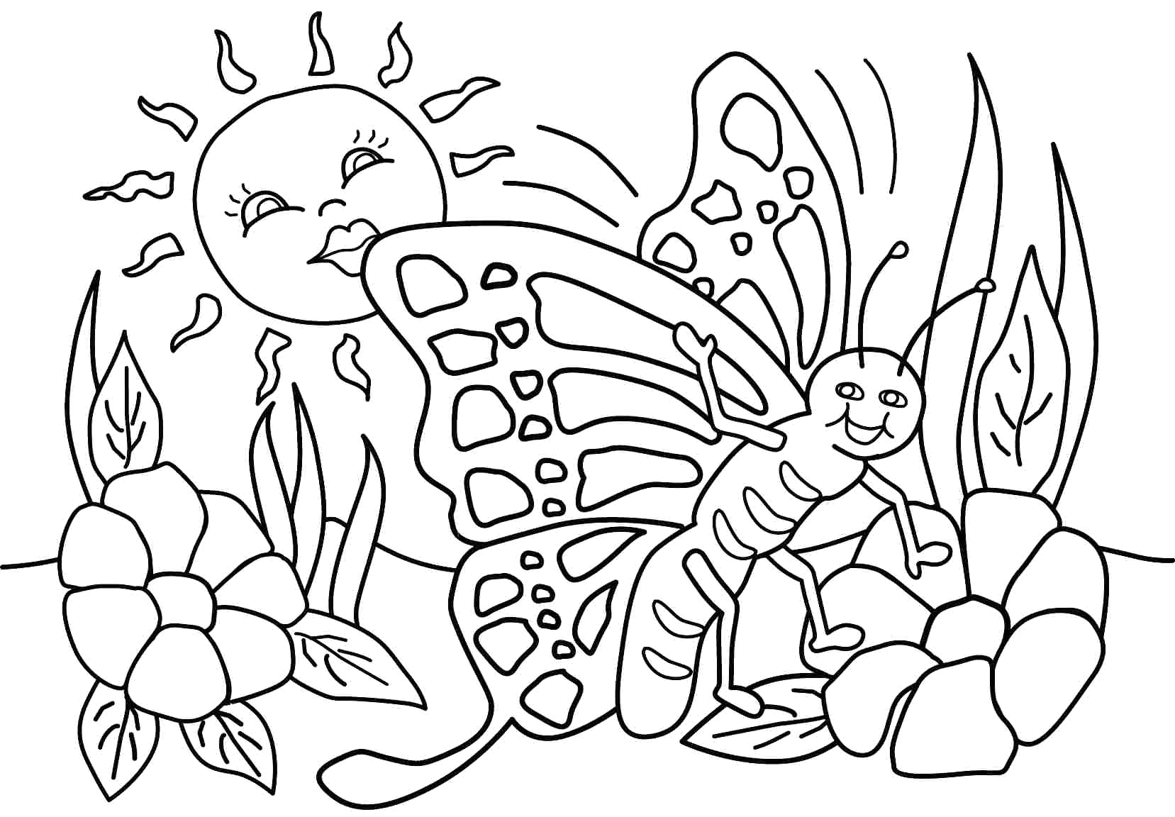 post spring season coloring pages printable