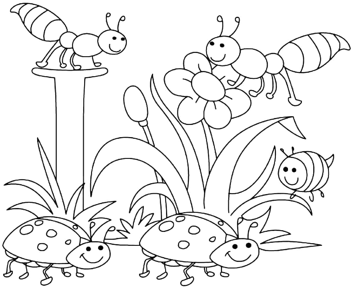 Free Printable Spring Coloring Pages for Preschoolers Printable Spring Coloring Pages Kindergarten Coloring Home