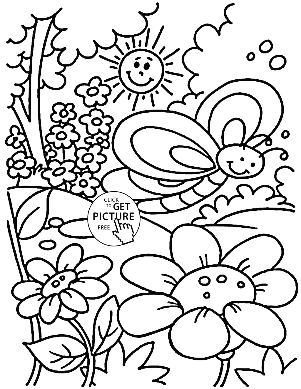 springtime coloring pages spring for preschool