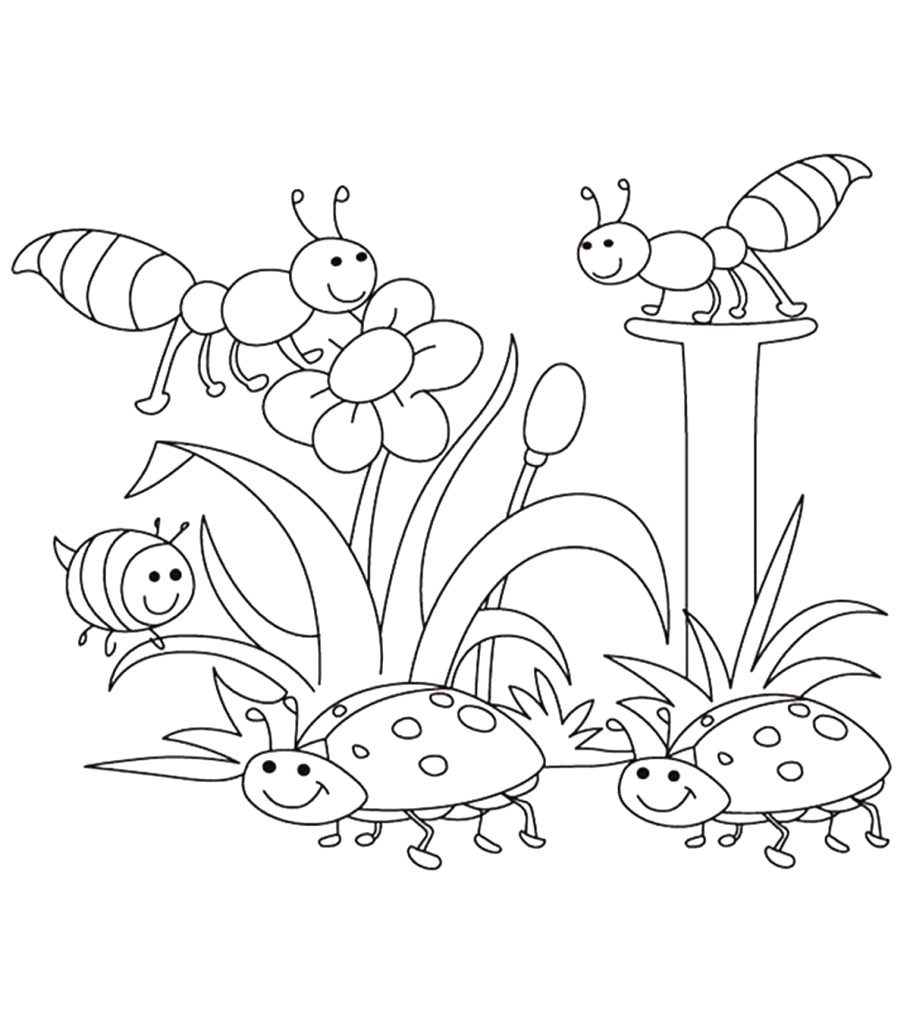 spring coloring pages your toddler will love to color