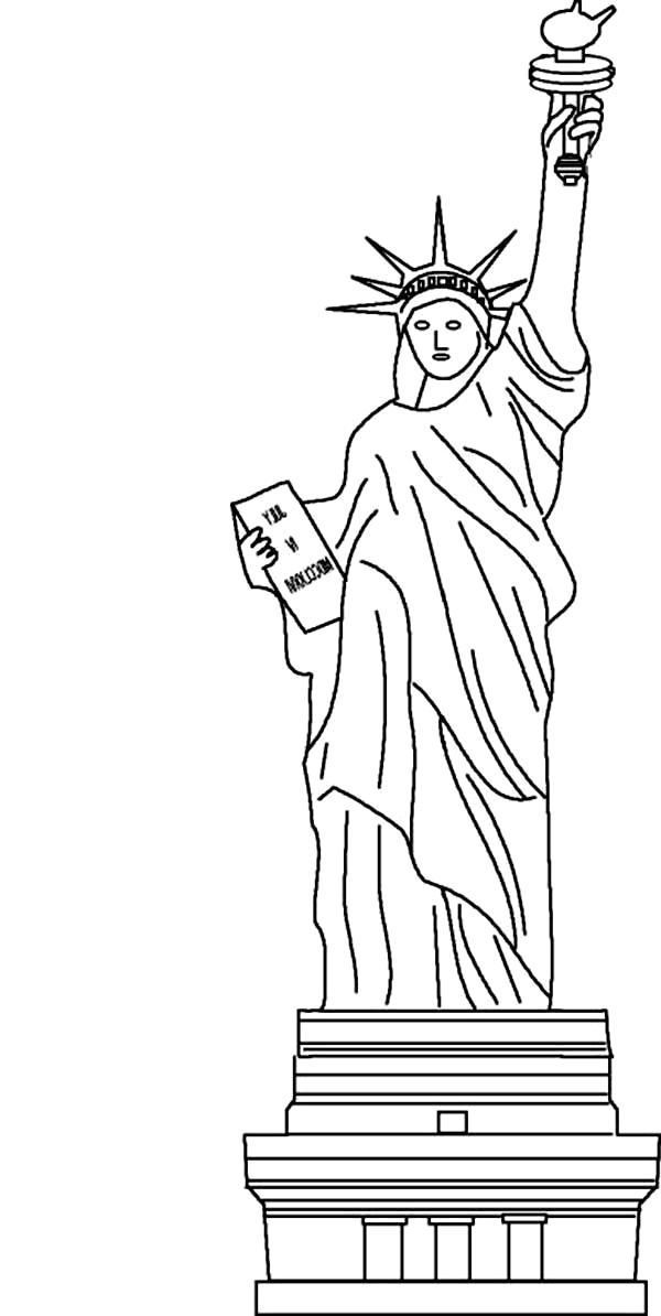 awesome statue of liberty coloring page 2