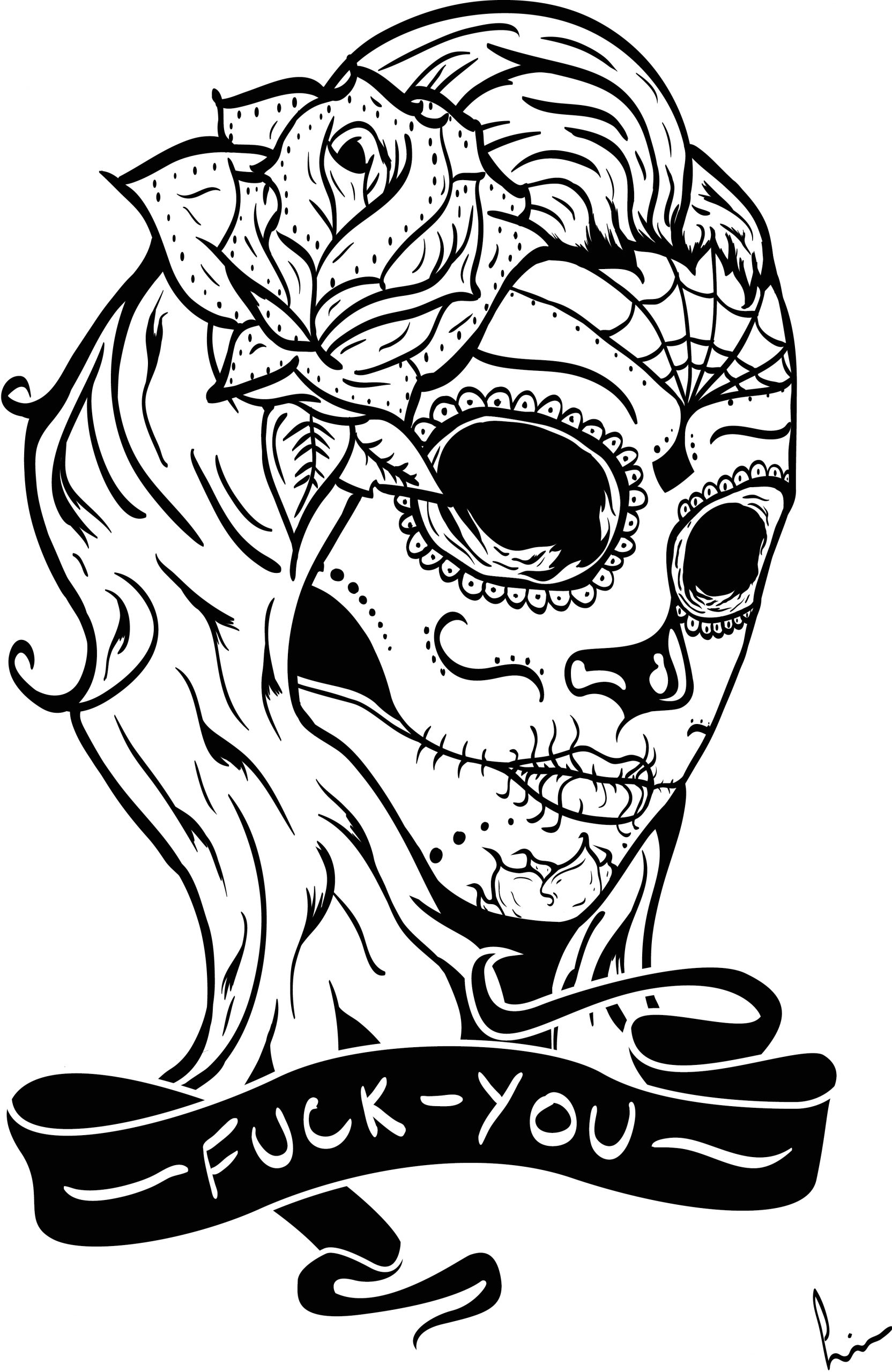 mexican sugar skull coloring pages