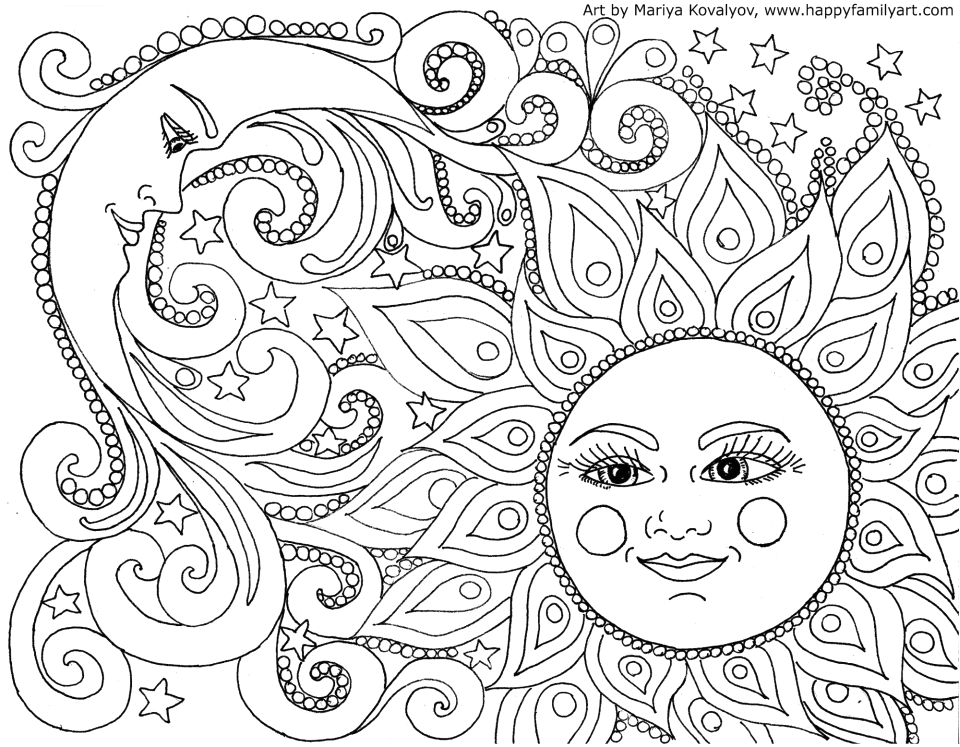 free summer coloring pages for adults to print
