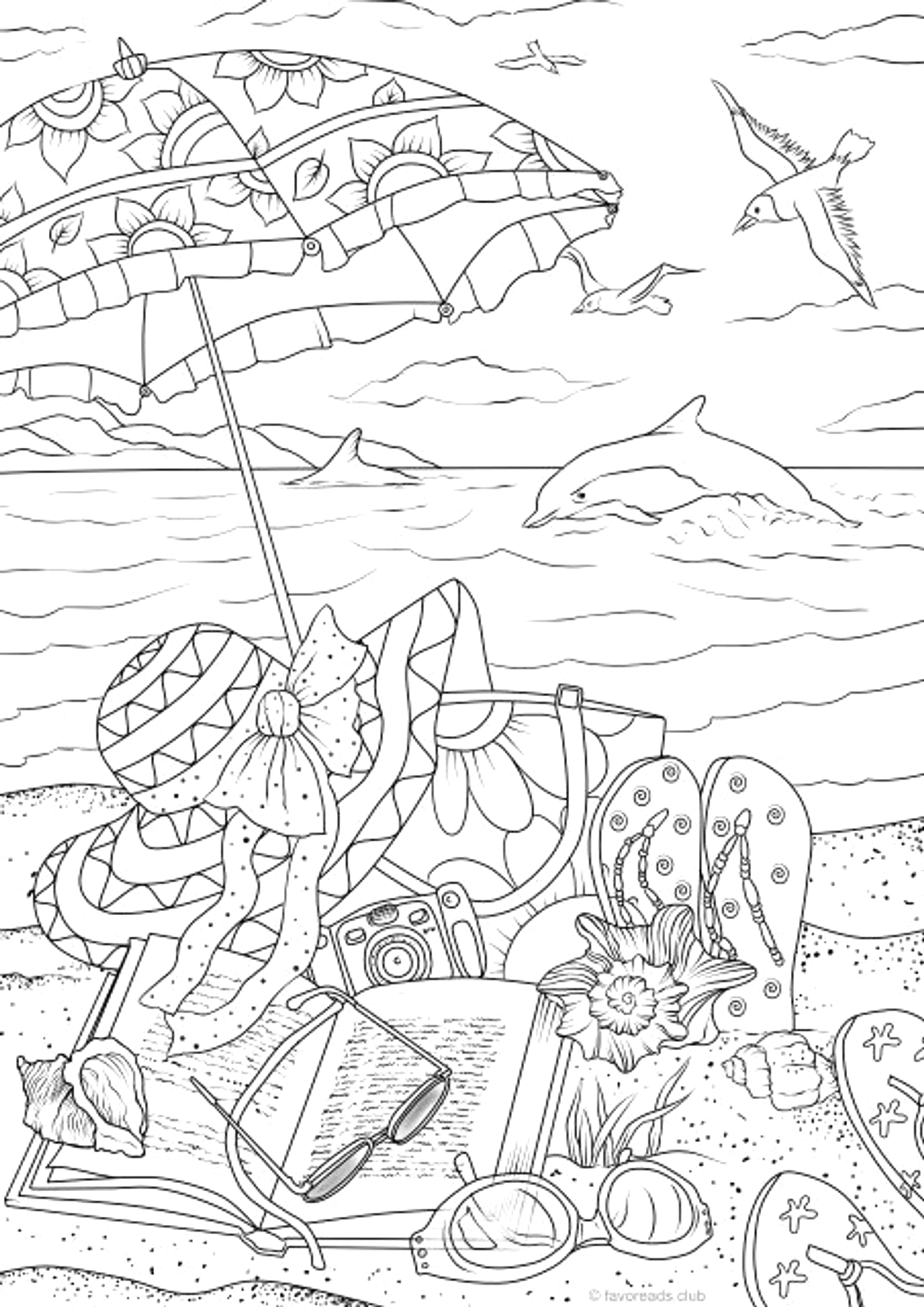 printable summer coloring pages for