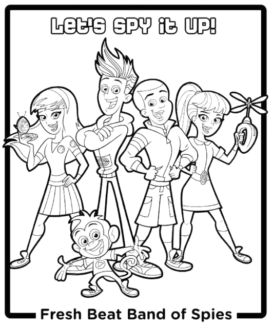 fresh beat band spies coloring pages