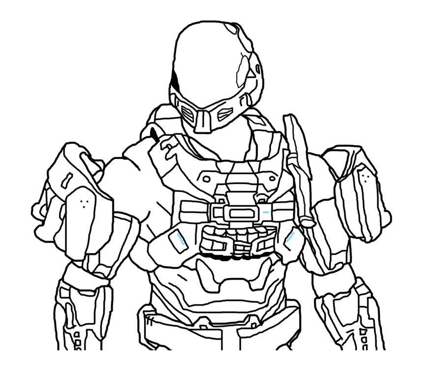 omRTxo and print these halo odst coloring pages