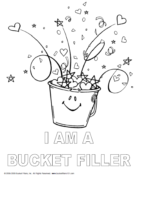 I Am A Bucket Filler Coloring Page Bucket Filler Coloring Page Coloring Home