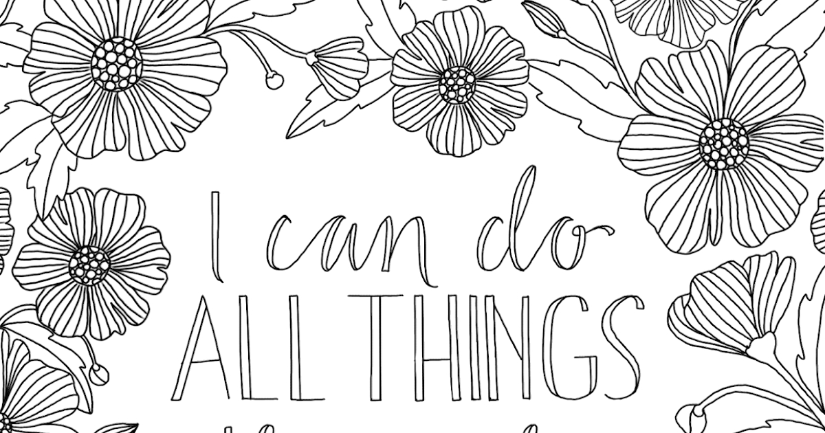 all things through christ coloring page