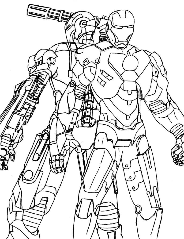 Iron Man and War Machine Coloring Pages Iron Man and War Machine by Sleepbringer On Deviantart
