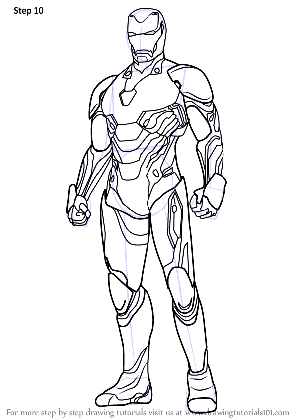 Iron Man Infinity War Suit Coloring Pages Step by Step How to Draw Iron Man From Avengers Infinity