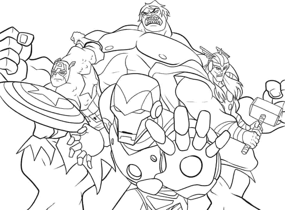 avengers infinity war coloring pages collection
