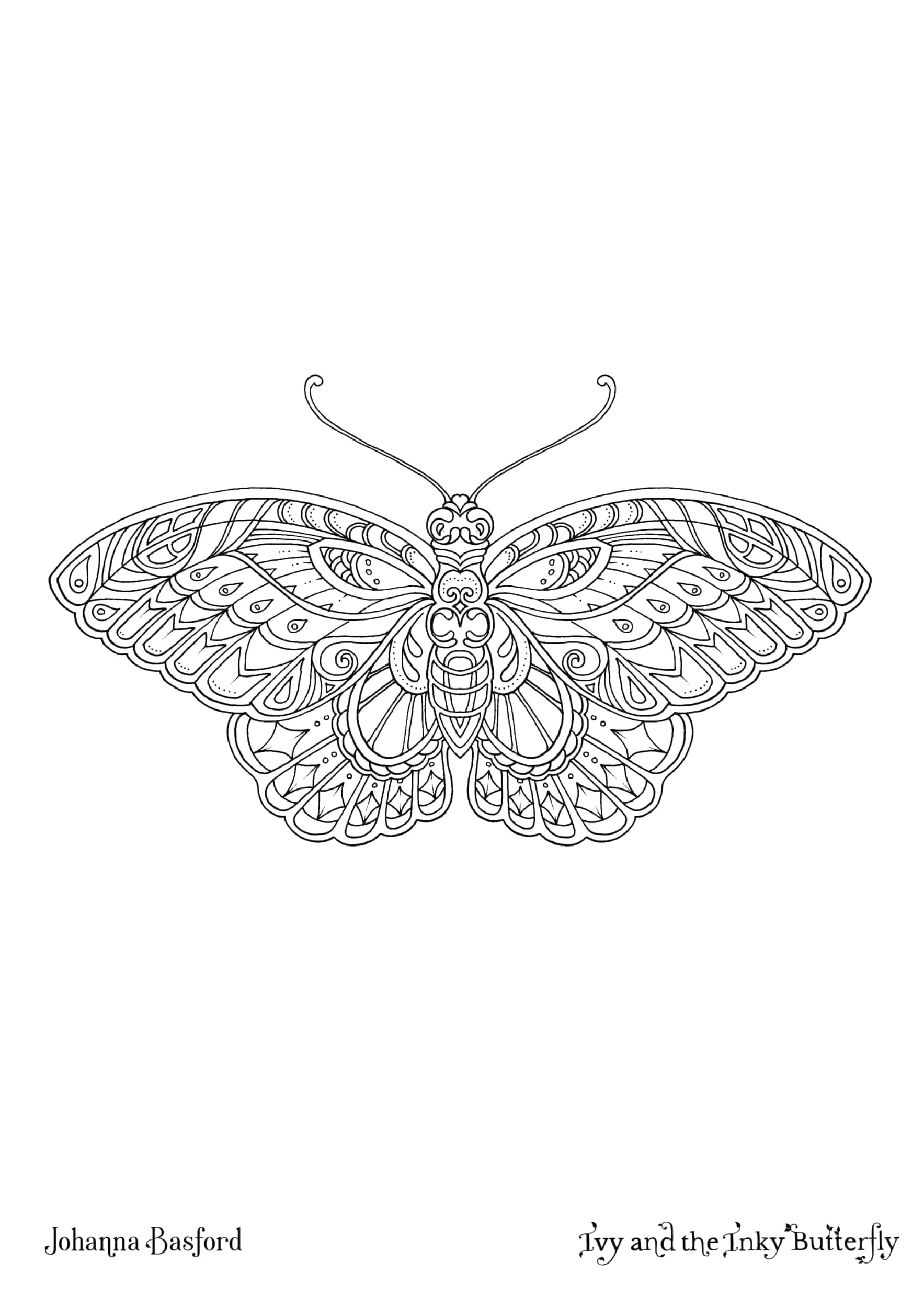 Ivy and the Inky butterfly Coloring Pages Ivy and the Inky butterfly Book Johanna Basford Johanna