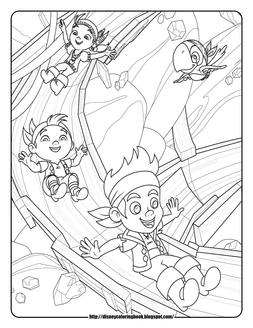 Jake and the Neverland Pirates Peter Pan Coloring Pages Coloring Page Jake the Pirate Coloring Home