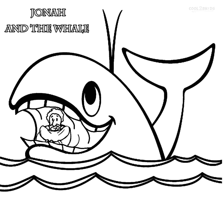 jonah and the whale coloring pages