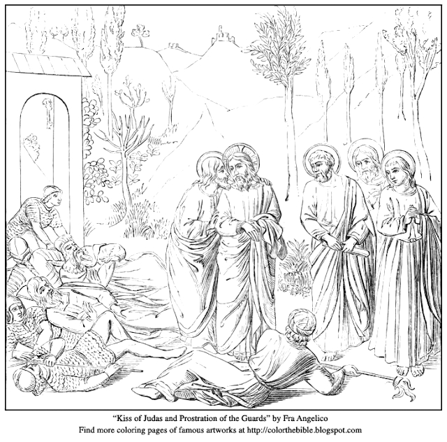 kiss of judas and prostration of guards