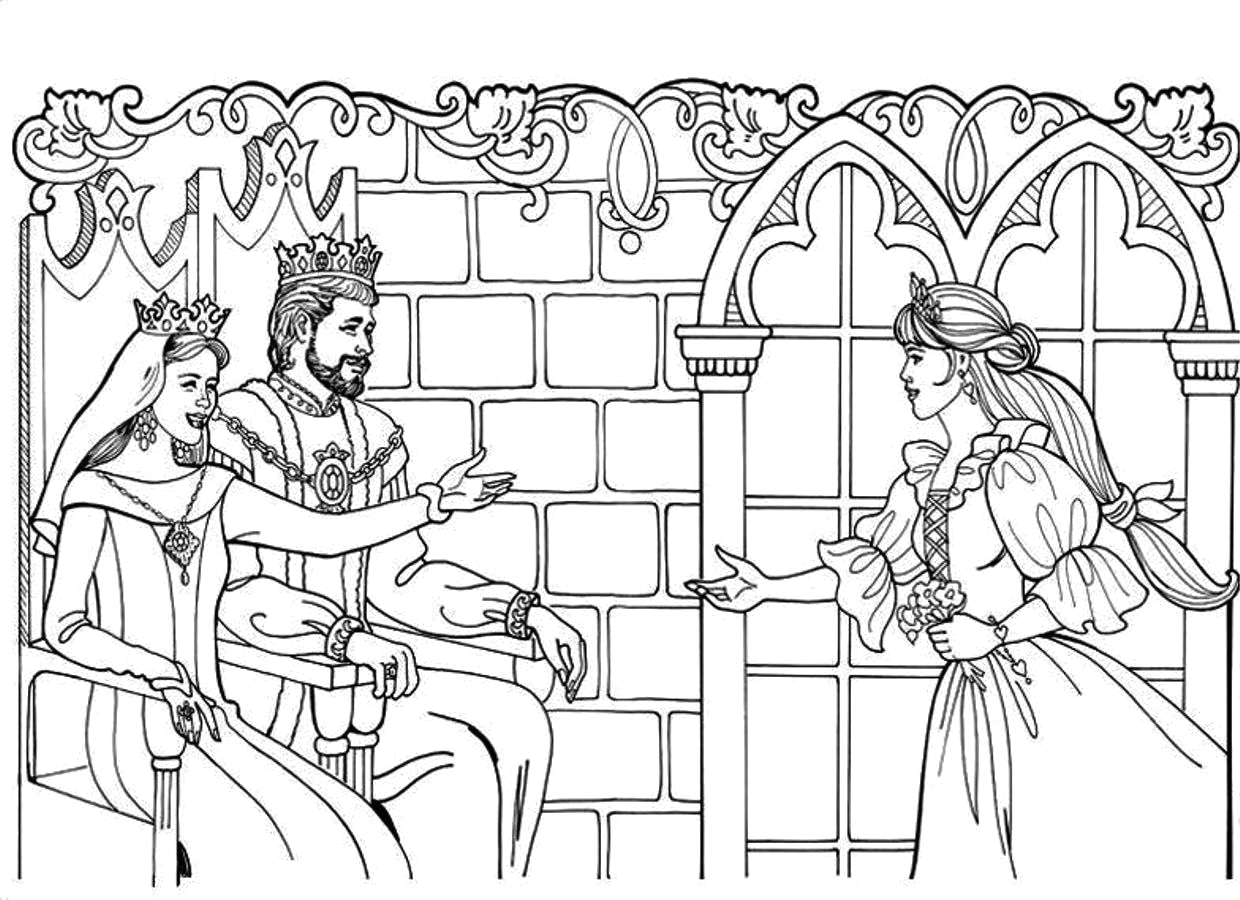 King and Queen Coloring Pages for Kids King and Queen Coloring Pages