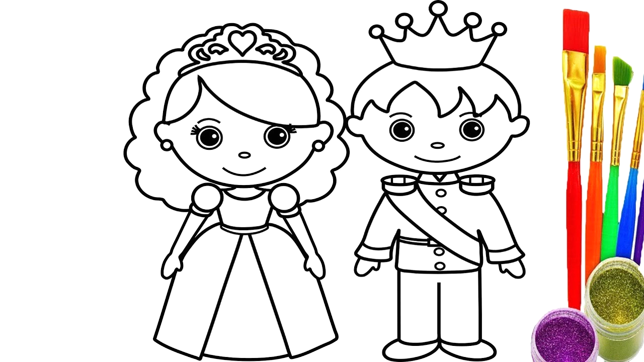 king and queen drawings