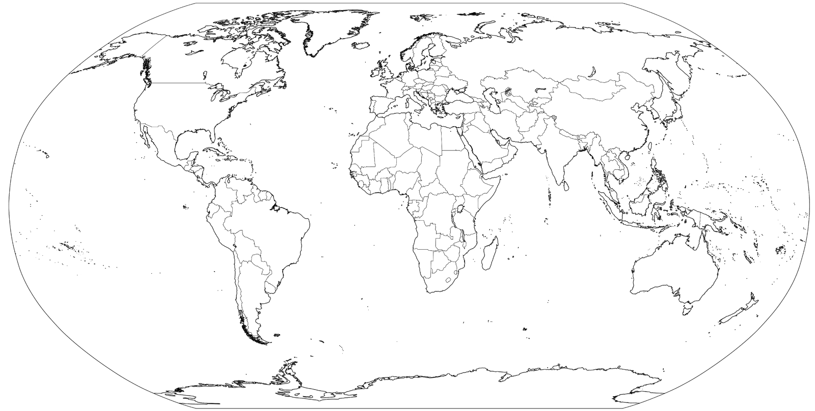map of world coloring page for kids