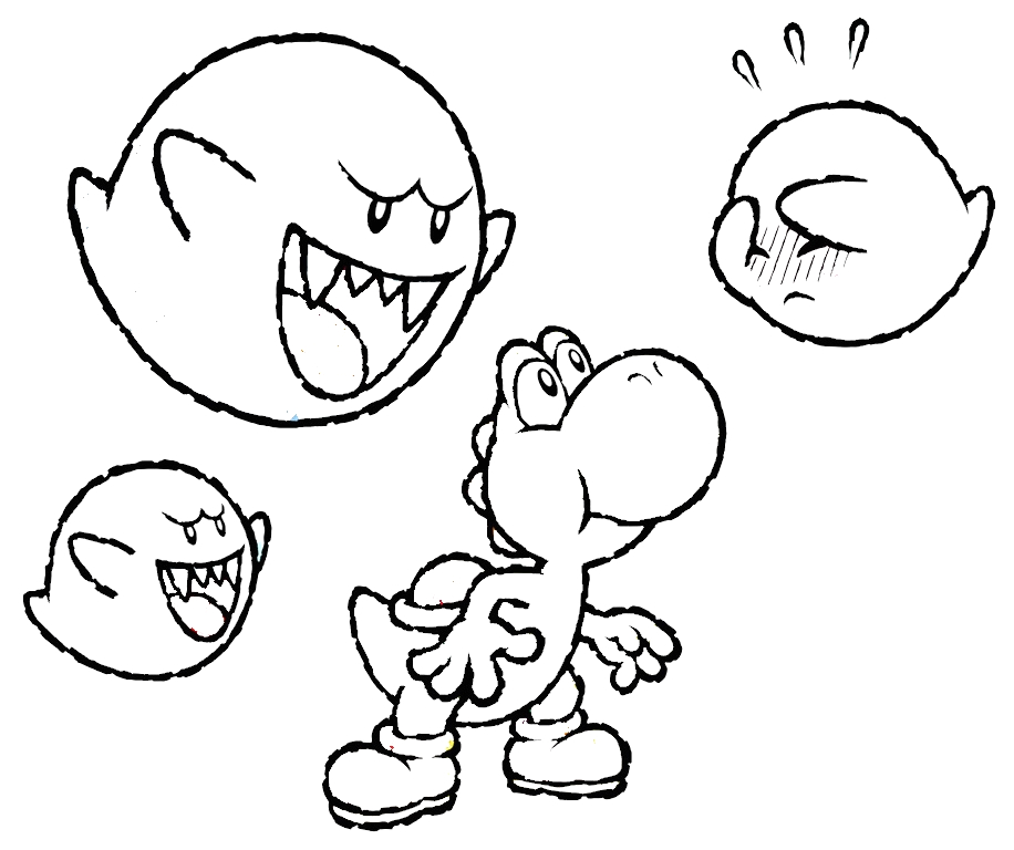 mario and luigi and yoshi coloring pages