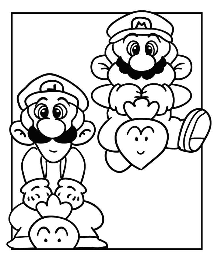 mario and luigi coloring pages printable h41nc