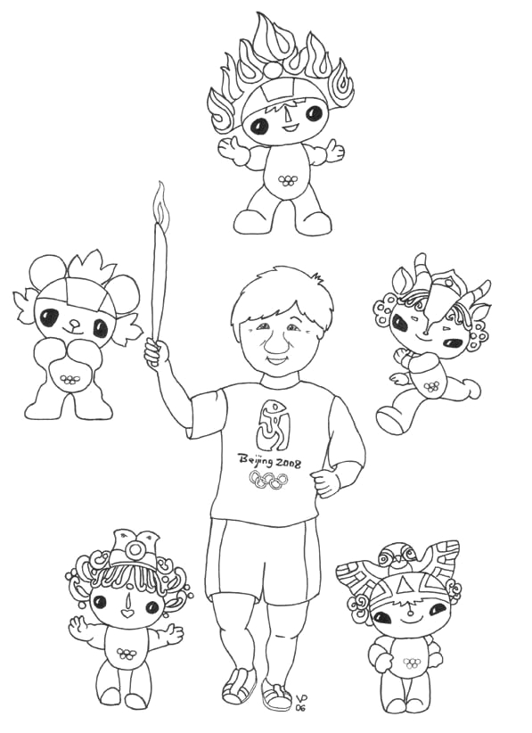 mario and sonic at the olympic games colouring pages