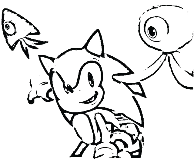sonic games coloring pages