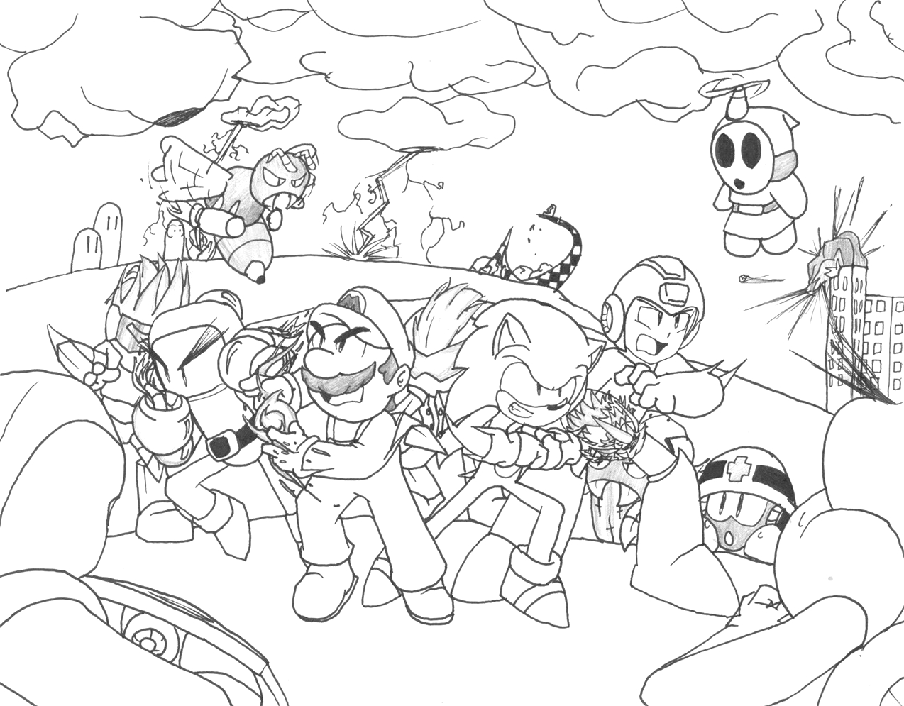Mario and sonic Olympic Games Coloring Pages sonic Games Drawing at Paintingvalley