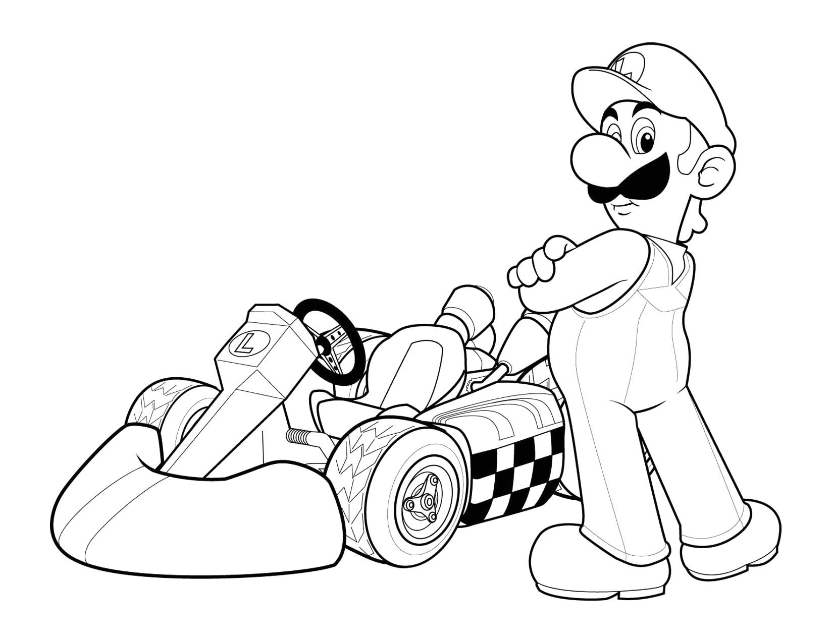 Mario Kart Coloring Pages for Kids Printable Mario Kart Characters Coloring Pages Coloring Home