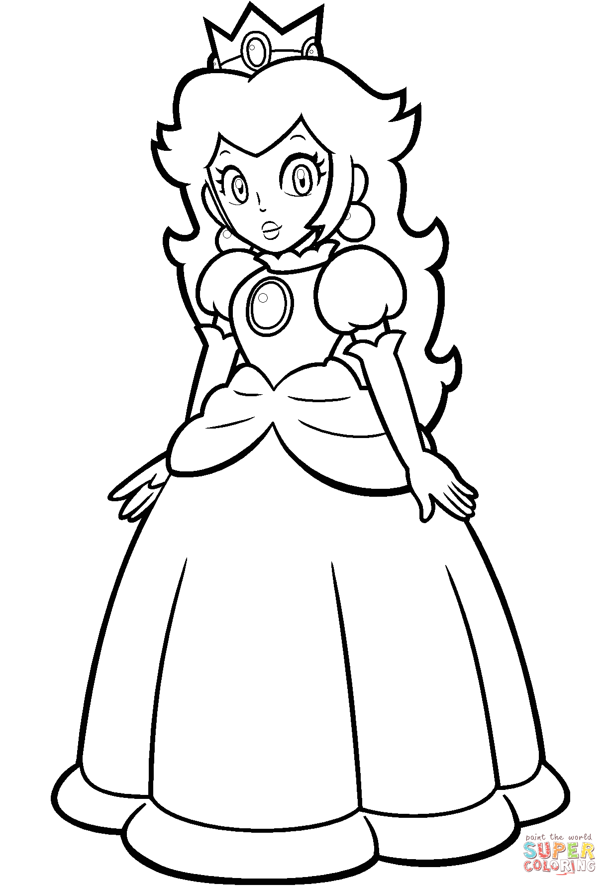 Mario Princess Peach Coloring Pages to Print Mario Bros Peach Coloring Pages Coloring Home