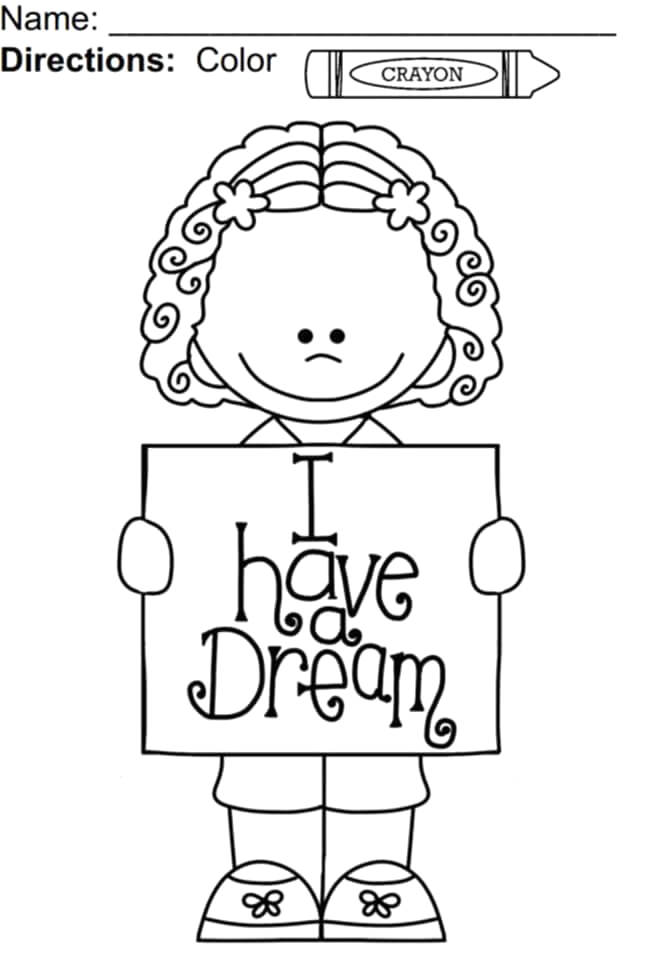martin luther king jr day coloring pages