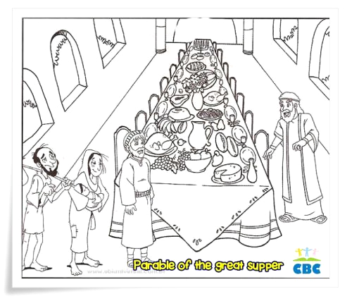 the parable of the great banquet clipart