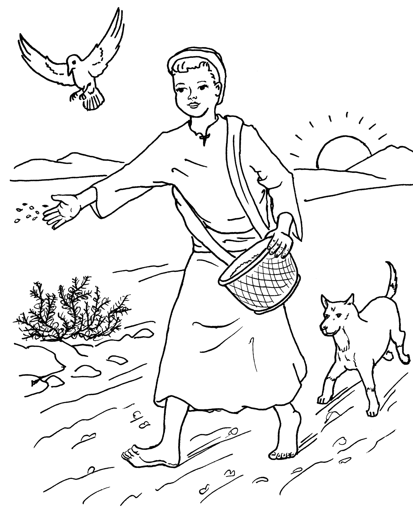 sower coloring pages