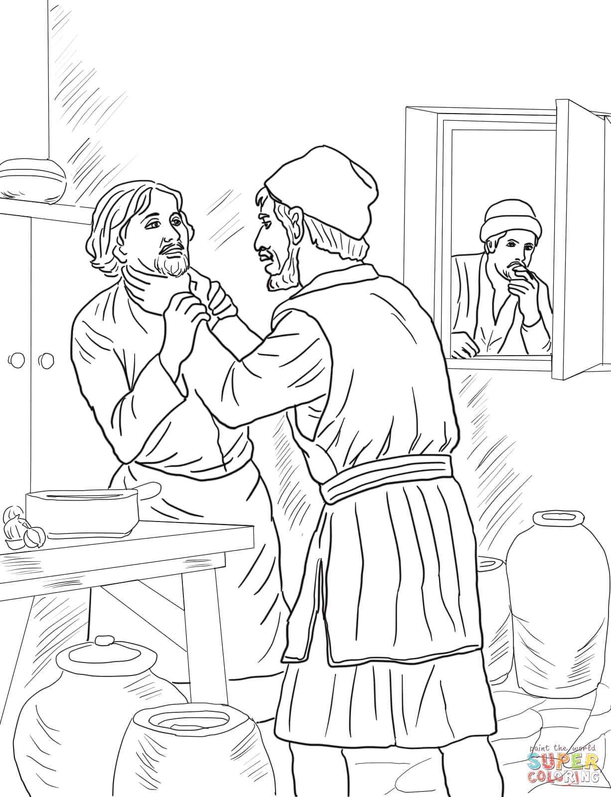 Parable Of the Unmerciful Servant Coloring Page Unmerciful Servant Coloring Page