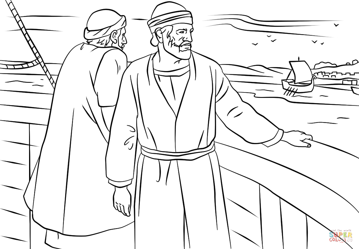 Paul and Barnabas Missionary Journey Coloring Page Paul and Barnabas Missionary Journey Coloring Page