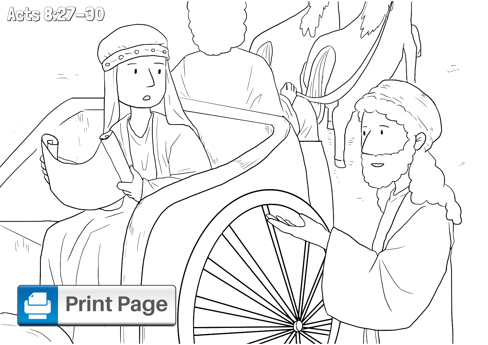 philip and the ethiopian coloring pages