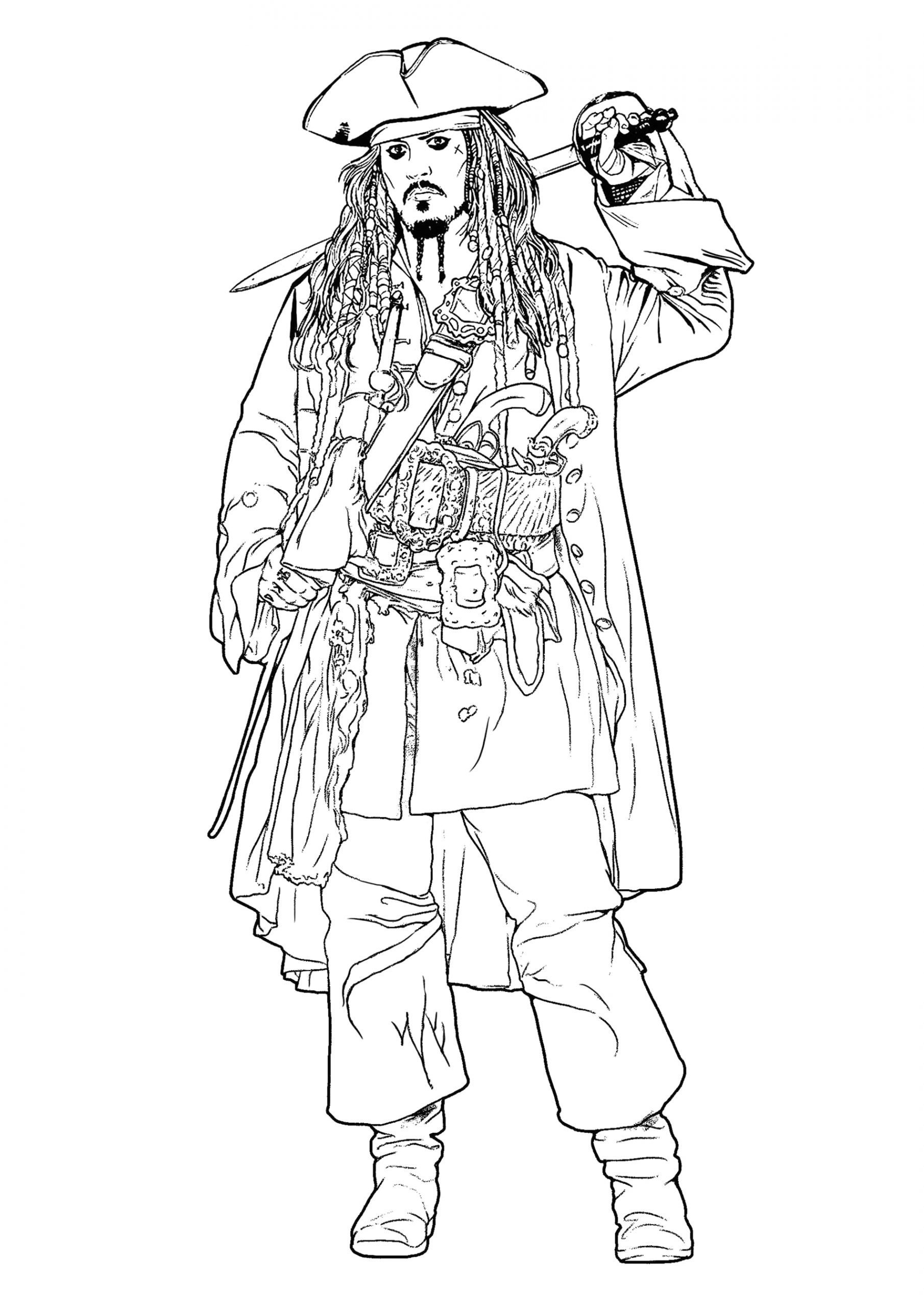 Pirates Of the Caribbean Coloring Pages to Print Pirates Of the Caribbean Free to Color for Kids Pirates