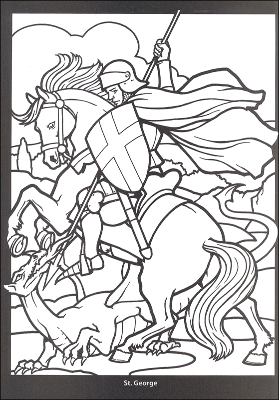 clipart st george and the dragon