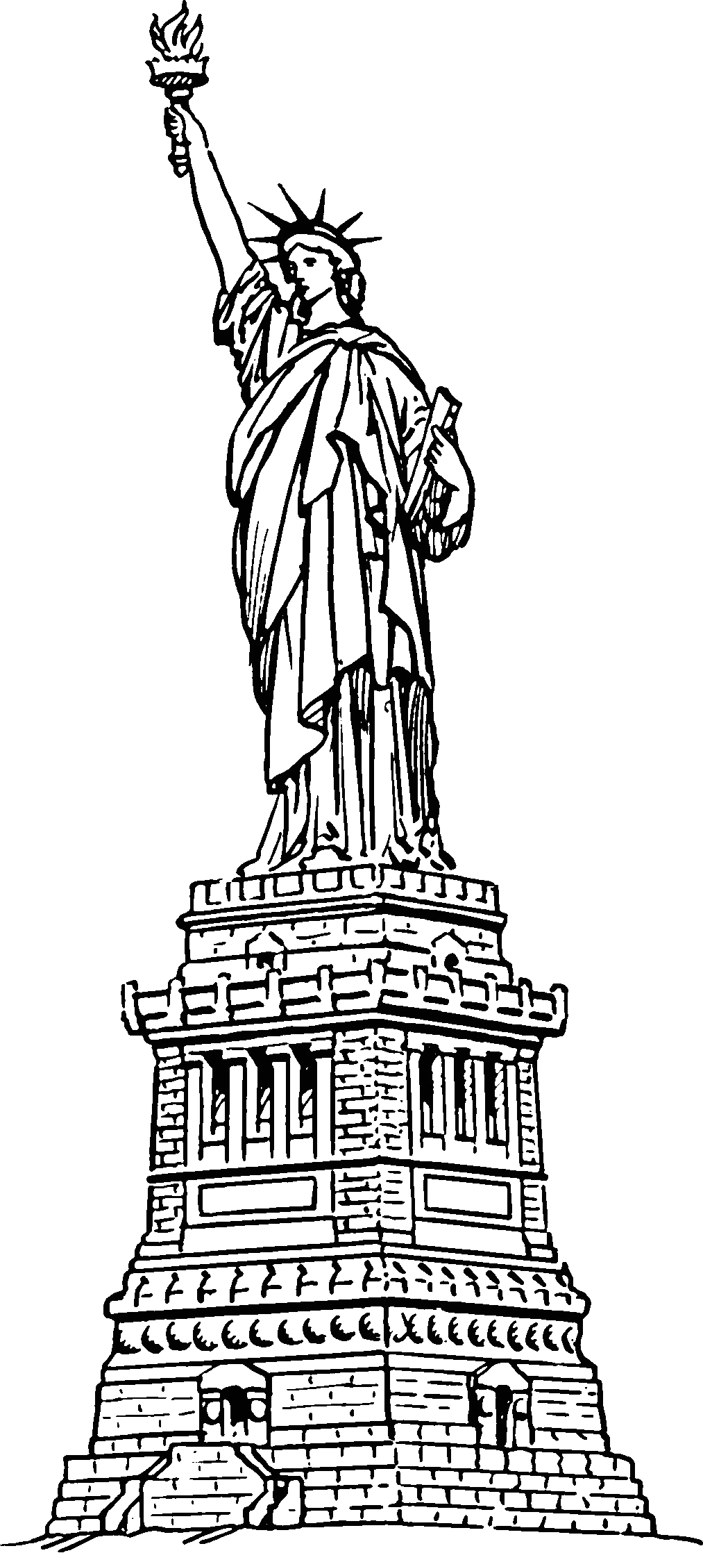 Statue Of Liberty Coloring Pages to Print Free Printable Statue Of Liberty Coloring Pages for Kids