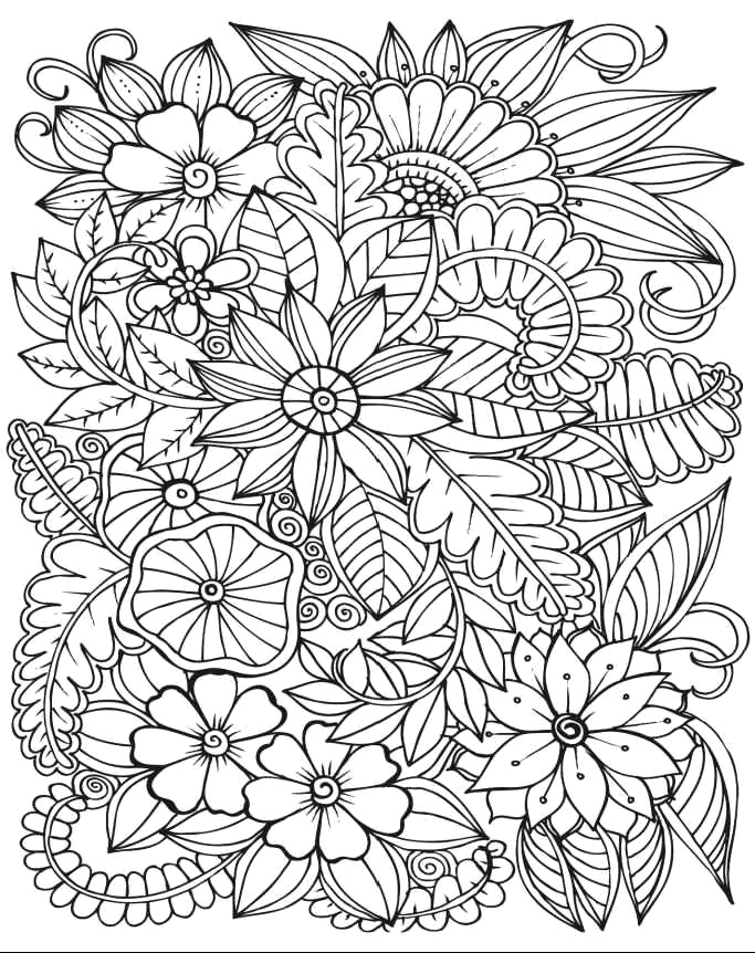 stress relief coloring pages for adults