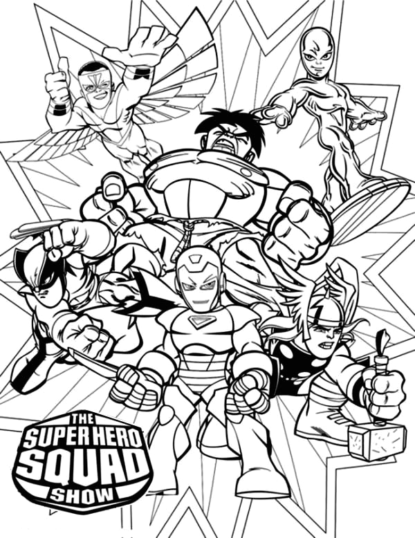Super Hero Squad Coloring Pages to Print Magnificent Super Hero Squad Coloring Page Netart