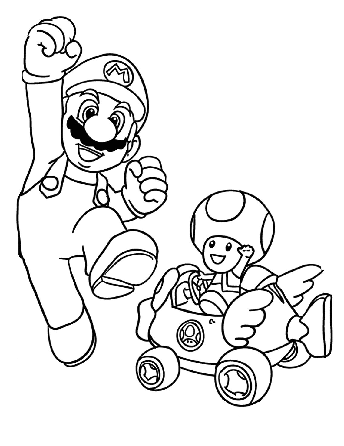 super mario toad coloring pages