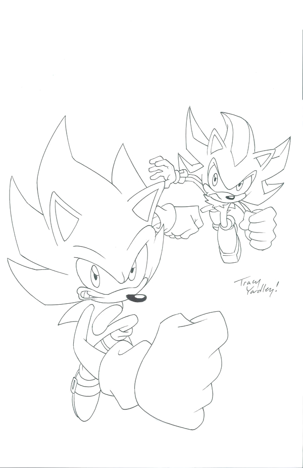 Super sonic and Super Shadow Coloring Pages Super sonic and Super Shadow by sonicfan1987 On Deviantart