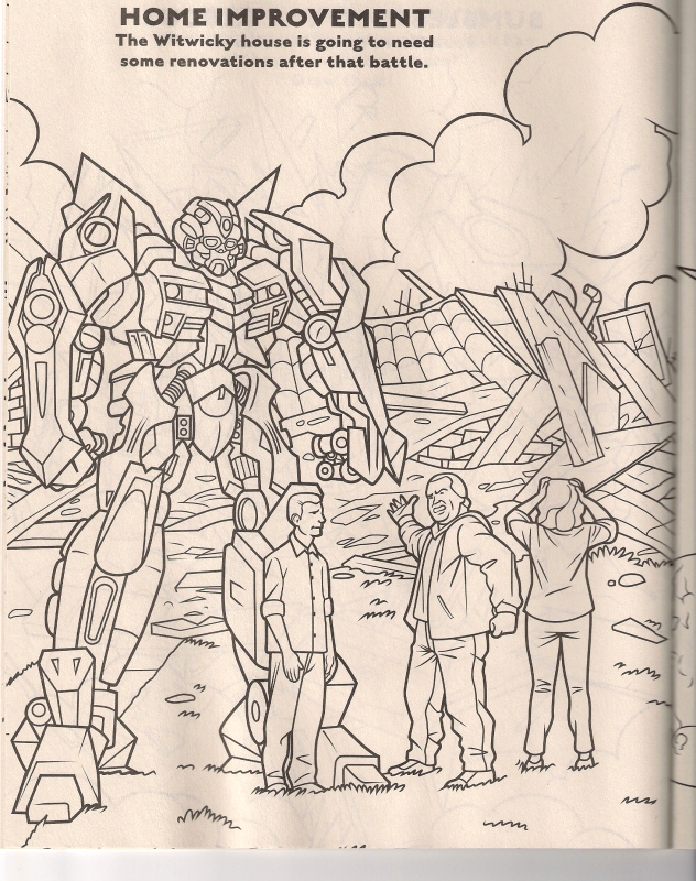 revenge of the fallen coloring book preview