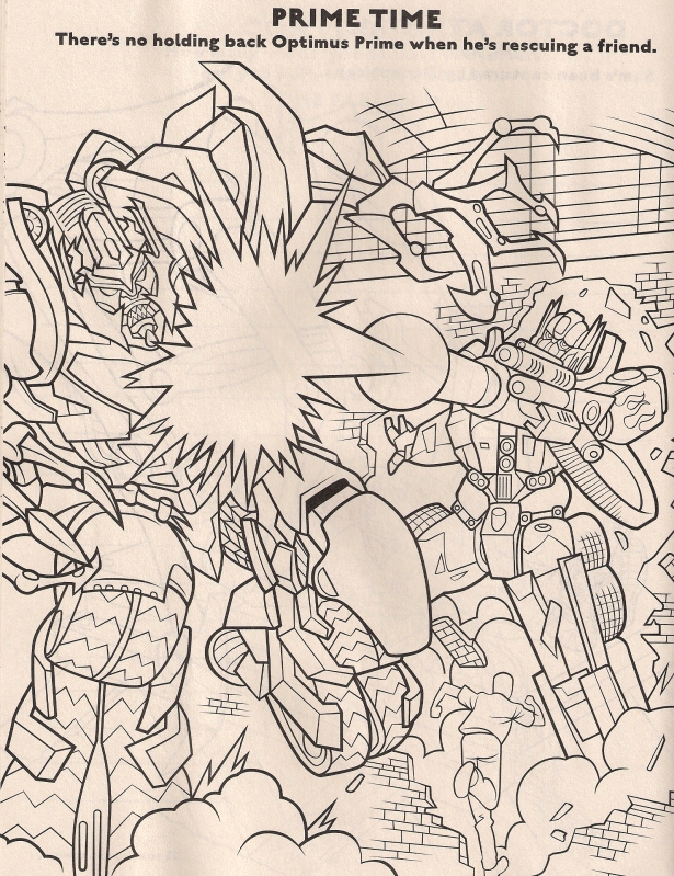 Transformers Revenge Of the Fallen Coloring Pages Revenge the Fallen Coloring Book Preview Transformers
