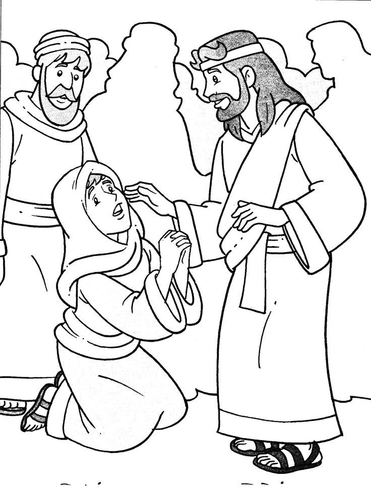 woman who touched hem of jesus garment